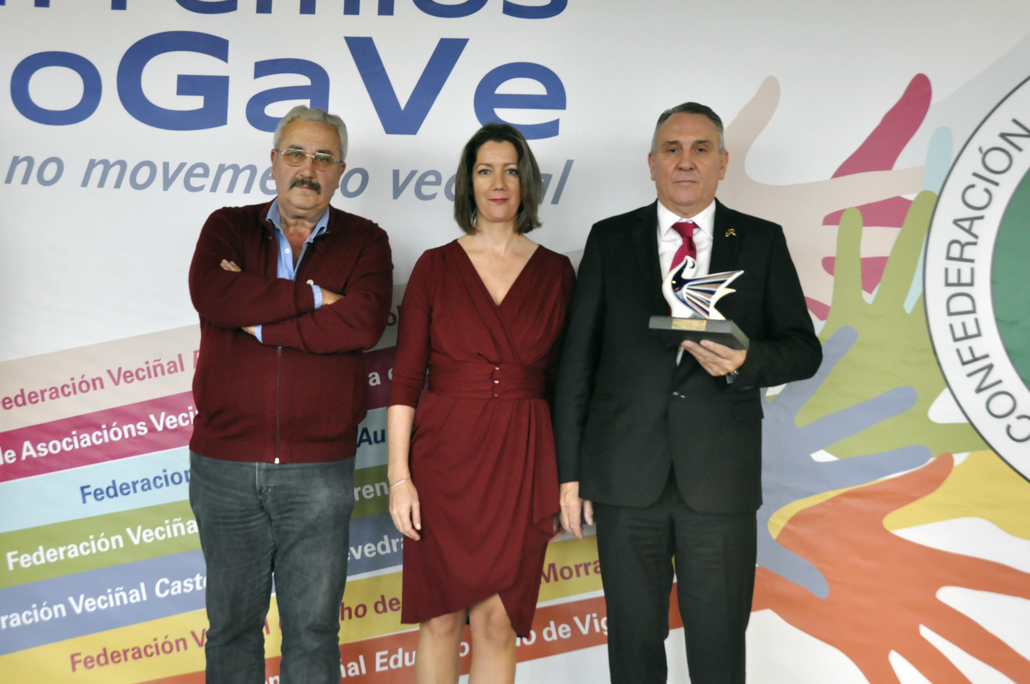 Entregaron o premio a Alcaldesa de Lugo, Lara Méndez, e o Presidente da Federación, Jesús Vázquez Varela